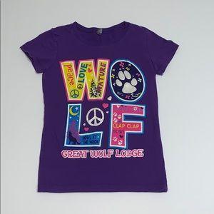 Girl's Purple Great Wolf Lodge Shirt, Size 6